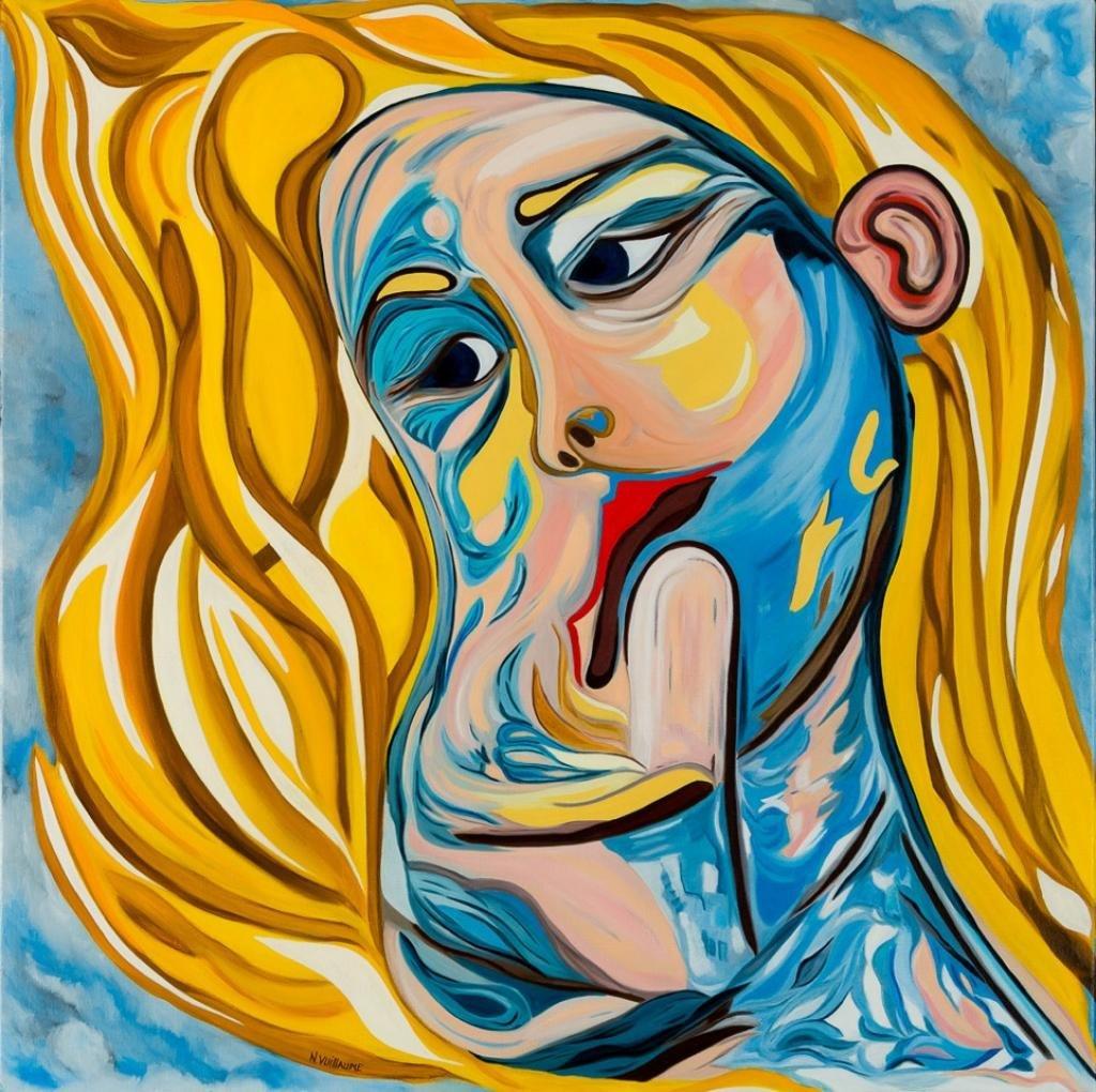 Retrato de una mujer, embarazada, sus preocupaciones, su sensibilidad.