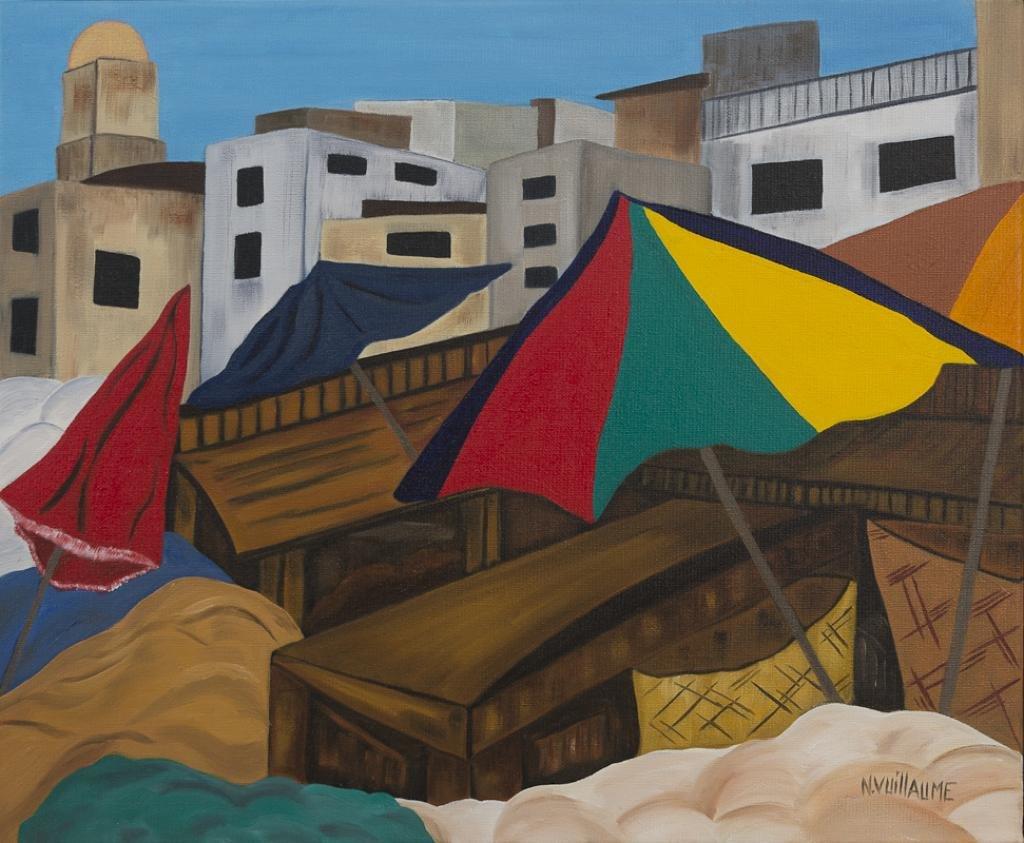 Scène de vie, sur un marché, en Afrique du Nord.