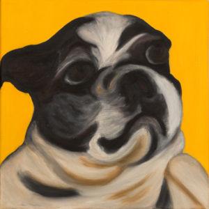 "Arnie #2 2013 Oil on canvas 15,7""X 15,7""  Animals Figurative"