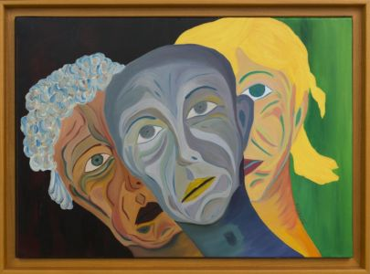 Self-portrait in three stages, youth, adulthood, old age.