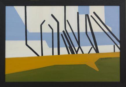 Paysage cubiste, d'un bord de mer, en Floride, aux États-Unis.