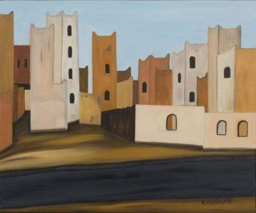 Scène de vie, dans une zone d'habitation, en Afrique du Nord.