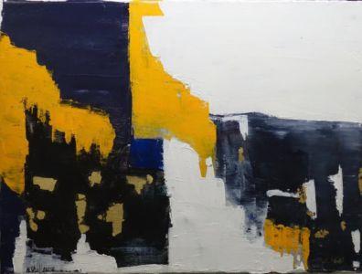 Vestige N°1 2017 Technique Mixte 41 X 30 Composition Abstrait