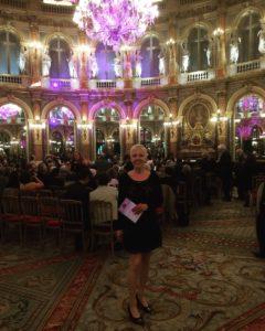 Ceremonia de entrega de premios en los salones del Hotel Intercontinental de París