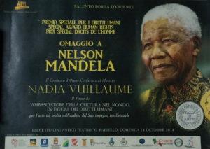 Diplôme d'ambassadrice remis à l'artiste peintre Nadia Vuillaume pour ses engagements artistiques
