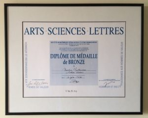 "Artist with a degree in ""Arts-Sciences-Lettres"""