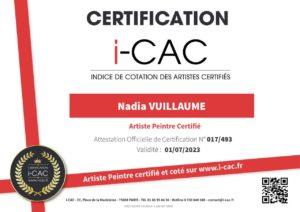 Pintora certificada y calificada