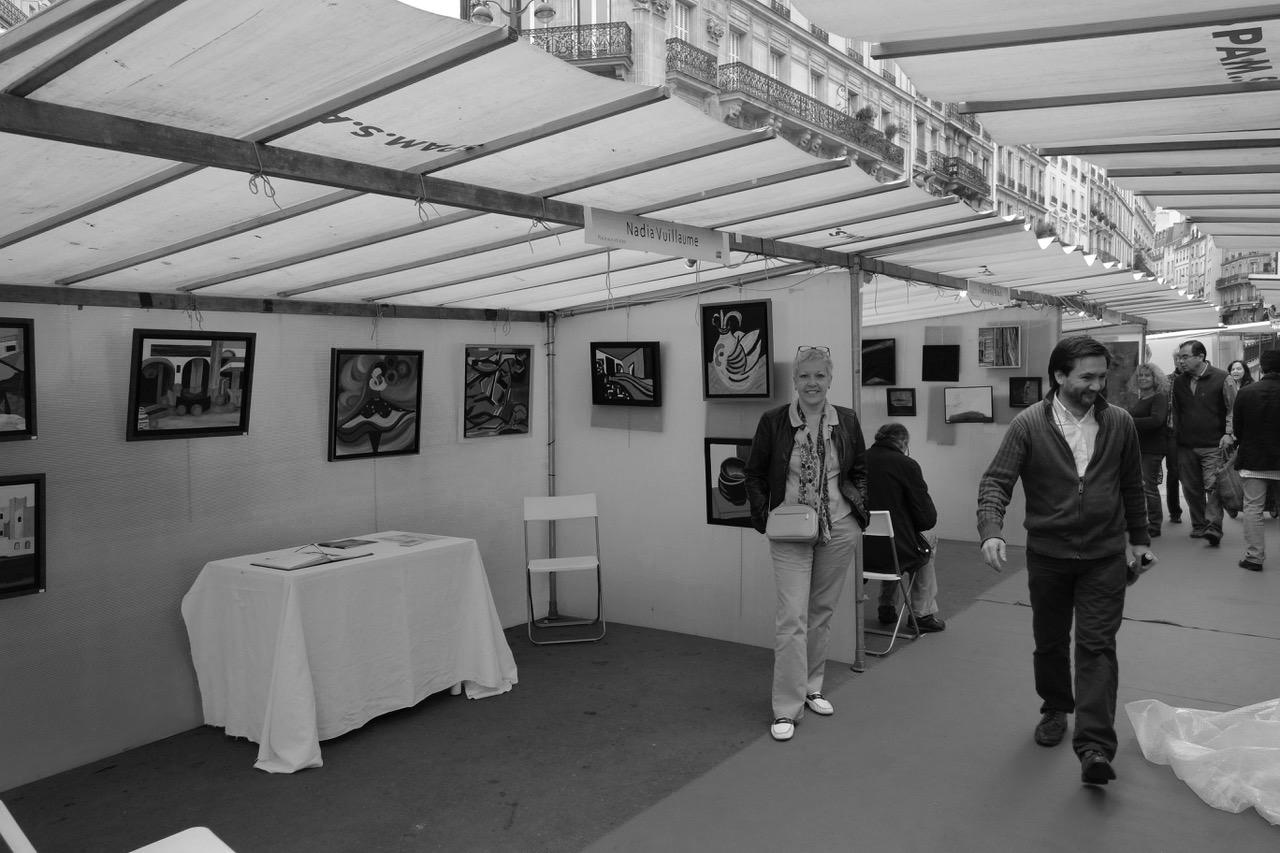 Mercado de arte en París
