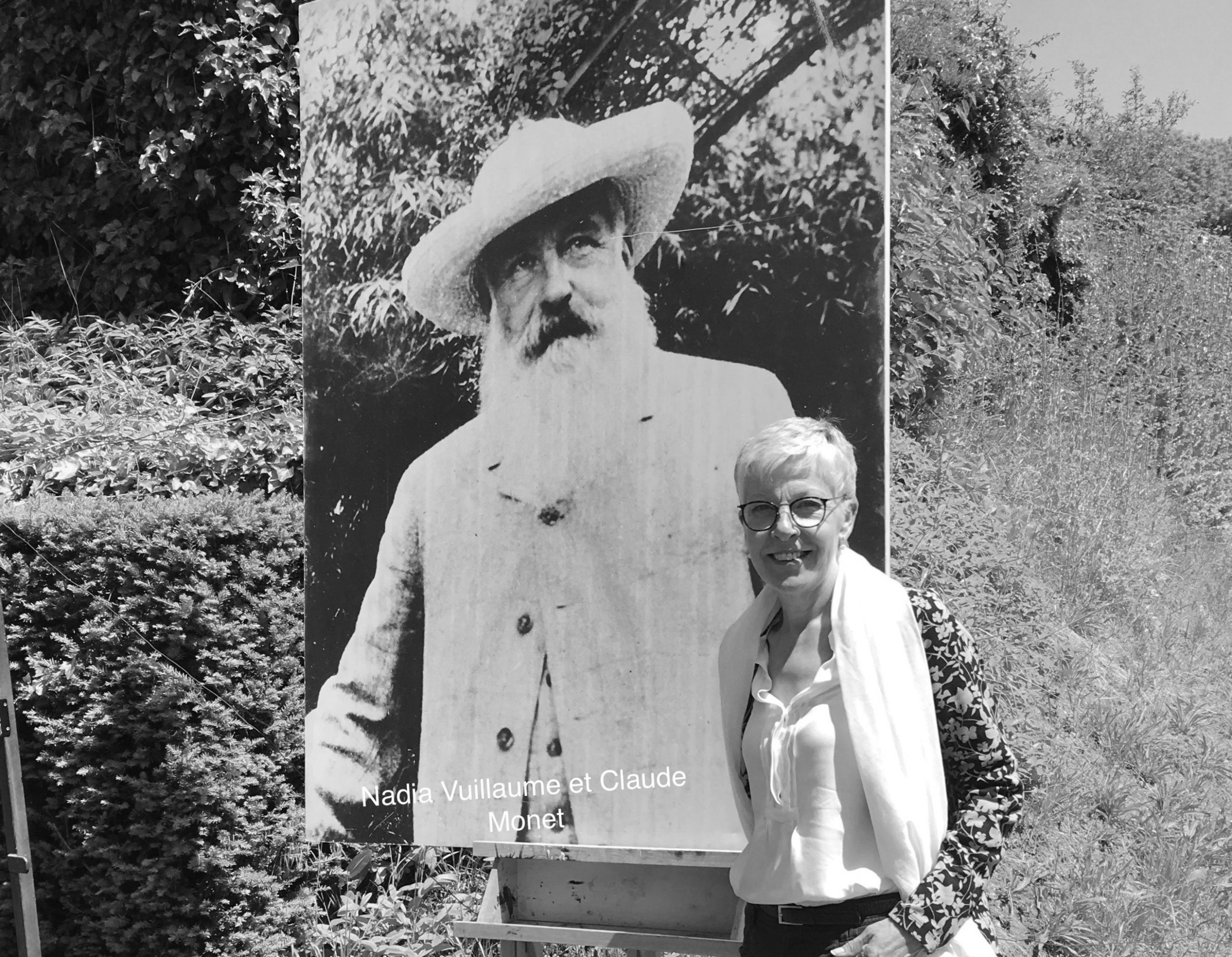 Claude Monet and Nadia Vuillaume in Giverny - France