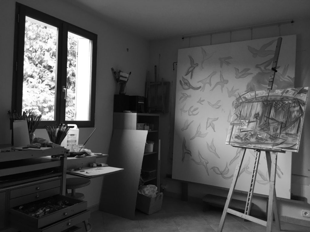 Atelier de l'artiste peintre Nadia Vuillaume
